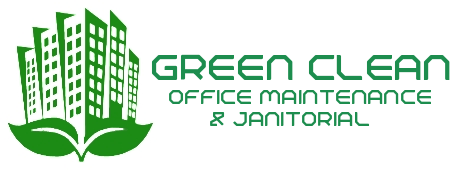 green clean office maintenance header logo
