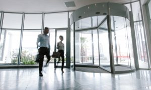 office building enterance